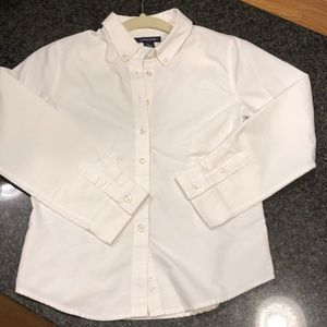 🌎 Girls Lands End button-down polo